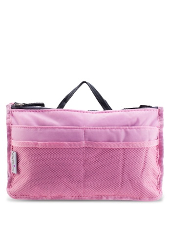 Bagstationz pink Bagstationz Premium Lightweight and Water-Resistant Multi-Compartment Bag-In-Bag Organizer BA607AC46TJHMY_1