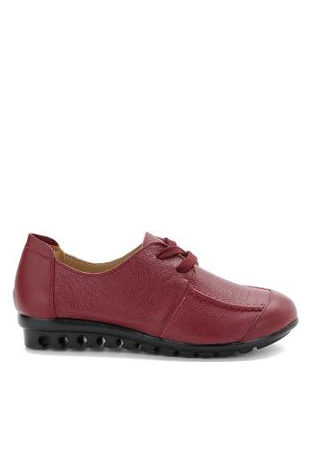Twenty Eight Shoes 紅色 軟牛皮舒適鞋 VC668 80C89SH83C59AAGS_1
