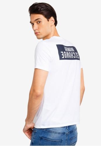 Armani Exchange white Back Logo V-Neck T-Shirt F816DAA6F899F1GS_1