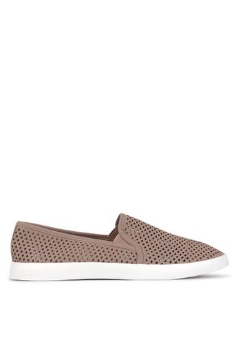 Betts pink Ellroy Perforated Slip On Sneakers 2B44ESH214B537GS_1