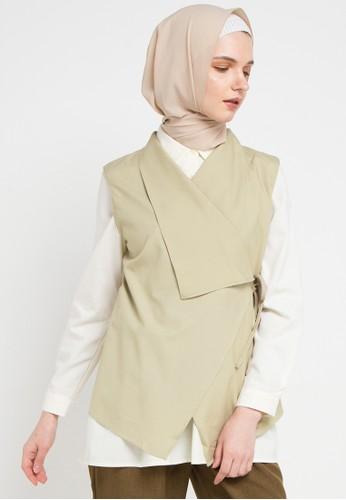 OMARA beige Sabria Vest CB6D1AAD0D3A8CGS_1