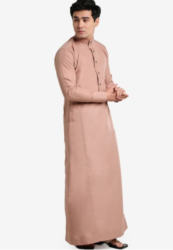 Amar Amran brown and orange and beige Jubah A Slim Fit AM362AA87JWMMY_1