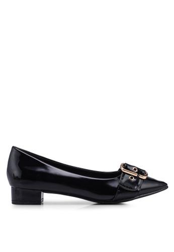 Carlton London 黑色 漆皮低跟鞋 AD5A6SH753EC3AGS_1