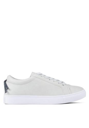 ZALORA 灰色 Laced-Up Sneaker 84FDDSH5D7AEA9GS_1