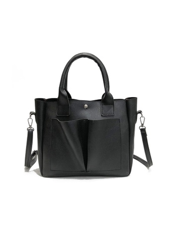 A FRENZ black Casual PU Crossbody Bag BD165ACDCC9E50GS_1