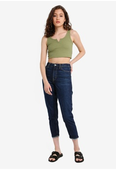 00e0610dbee 20% OFF TOPSHOP Indigo Mom Jeans S$ 89.90 NOW S$ 71.90 Sizes 26S 28S