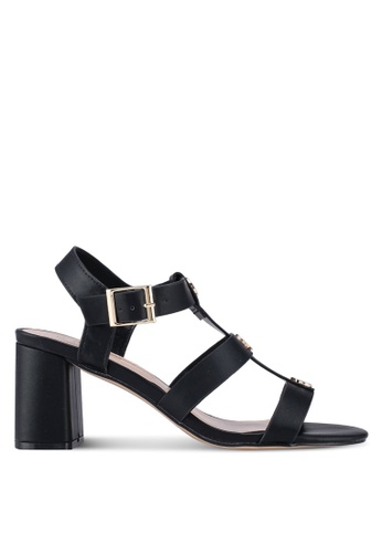 Dorothy Perkins black Black Sidney Studded Heel Sandals 67B1CSHA0A6CBCGS_1