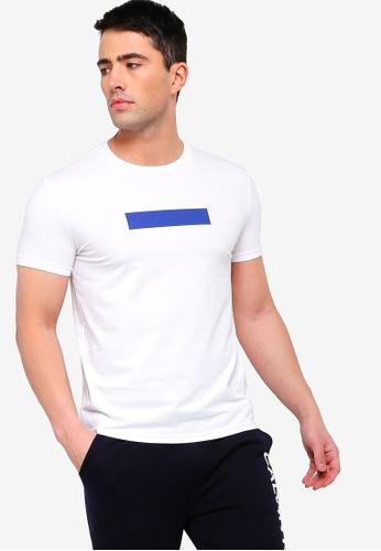 Calvin Klein 白色 修身T恤 0597DAA6BC664EGS_1