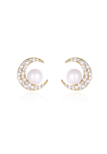 Atrireal gold ATRIREAL - Crescent Moon Stud Earrings D88F2ACF17DCEAGS_1