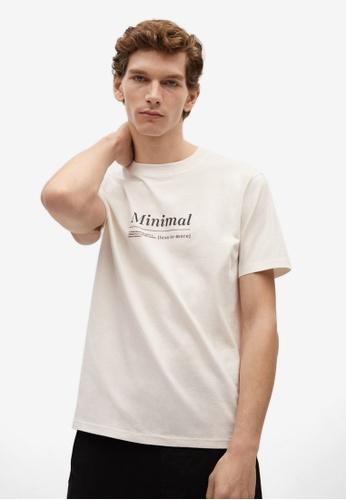 MANGO Man white Organic Cotton Printed T-Shirt 0F072AAA57FBAAGS_1