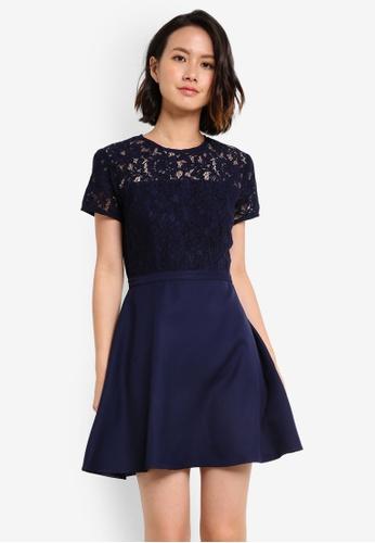 Buy zalora lace panel fit flare dress online on zalora singapore zalora navy lace panel fit flare dress d2d61aa5856533gs1 stopboris Images