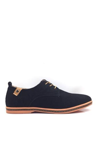 Twenty Eight Shoes 黑色 VANSA 牛猄皮休閒鞋  VSM-CK01 1BCCCSH7FB4FFEGS_1