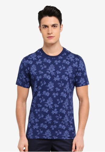 MANGO Man blue Printed Cotton T-Shirt 98981AA5BF726EGS_1