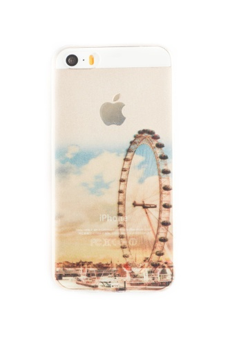 Fancy Cellphone Cases multi London Eye Soft Transparent Case for iPhone 5/5s/SE FA644AC95RSYPH_1