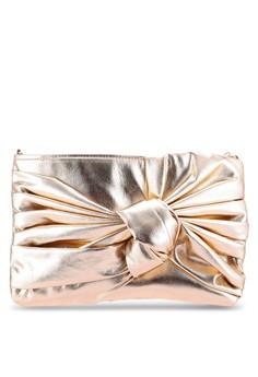 【ZALORA】 Bow Front Clutch Bag