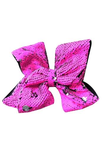 Jojo Siwa pink JOJO SIWA BOW WITH CLIP (ROSE REVERSIBLES SEQUIN) 6AF2FKCA1EA353GS_1