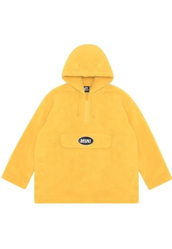Mini cream yellow Logo sherpa hoodie 1D9EBAA8EDF69EGS_1