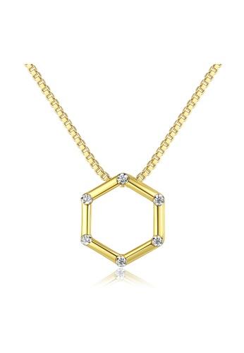 SUNRAIS gold Premium Silver S925 Gold Star Necklace 41E1CAC71EC7AAGS_1