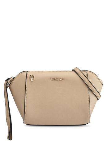 Perllini&Mel beige Faux Leather Sling Bag 069EFACCCC9F3DGS_1