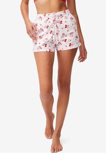 Cotton On Body white Jersey Sleep Shorts CD073AA596B046GS_1
