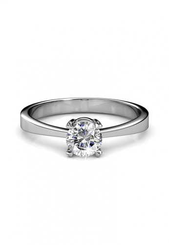 Her Jewellery silver Swarovski® Crystals - Sweetheart Ring (18K White Gold Plated) Her Jewellery HE581AC0RAK6MY_1
