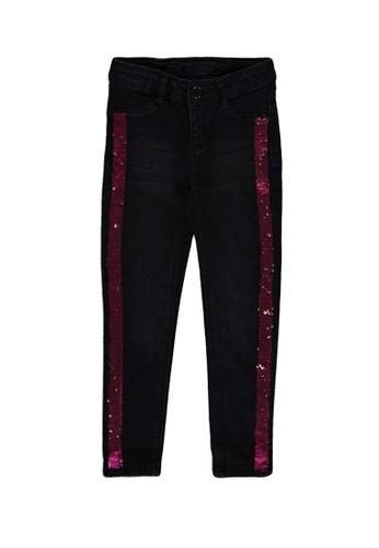 LC Waikiki black Sequin Embroidered Skinny Jeans F5ECEKAE05028FGS_1