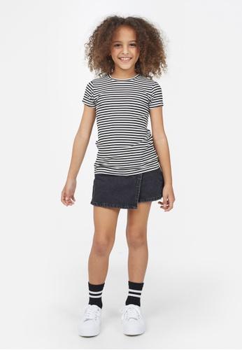 Gen Woo multi Striped Rib-knit T-shirt By Gen Woo 8F496KA94A38FDGS_1