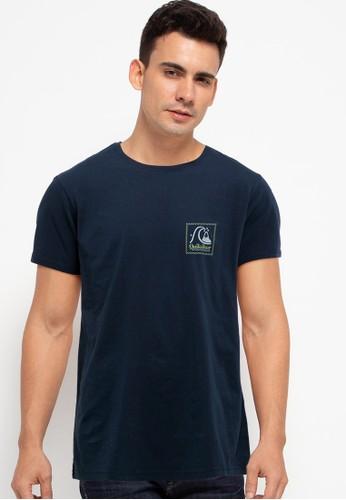 Quiksilver navy Leaping Ideas Short Sleeve Id 46642AAB591CDEGS_1