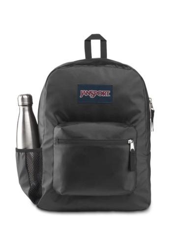 Jansport black and multi Jansport Unisex Cross Town Remix Backpack Black Matte Coated - 26L 20B22ACADE3FADGS_1