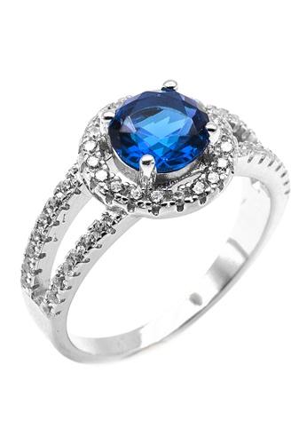 Elfi blue Elfi 925 Genuine Silver Engagement Ring R3 - The Fortune of Roman (Blue) 431B9AC4841901GS_1