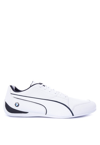Puma white BMW MS Drift Cat 7 Jr Training Shoes PU758SH0KIYIPH_1