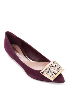 Sebastian Pointed Flats with Swarovski