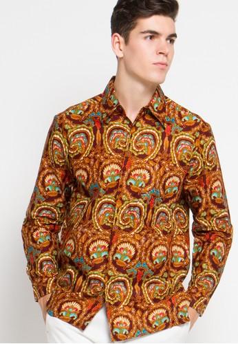 Adikusuma brown Kemeja Batik Rantai Ukel AD742AA73LQWID_1
