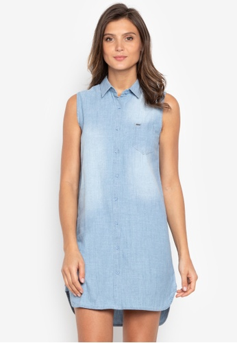 26f8d81e79bc4d Shop Bobson Button-Down Sleeveless Shirt Dress Online on ZALORA Philippines