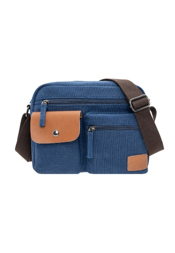 Jack Studio navy Jack Studio Fashion Canvas Shoulder Messenger Crossbody Bag D188BACD199305GS_1