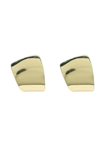 Red's Revenge gold Minimalist Abstract Stud Earrings 83C1BAC788E76FGS_1