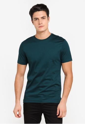 Topman green Teal Premium T-Shirt TO413AA0T1NIMY_1