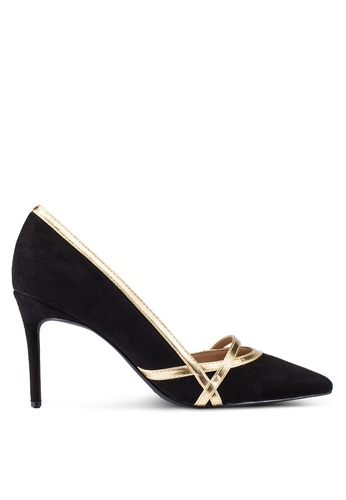 ZALORA 黑色 Court Heels With Gold Trim Details 92AF5ZZE15487FGS_1
