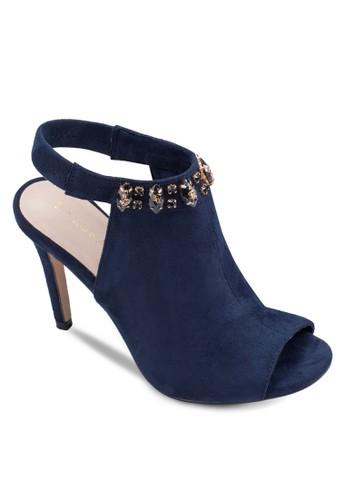 閃飾繞踝露趾高跟涼鞋, 女鞋zalora是哪裡的牌子, 鞋