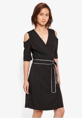 ZALORA multi Cold Shoulder Wrap Dress DB3F8AAB71EC59GS_1