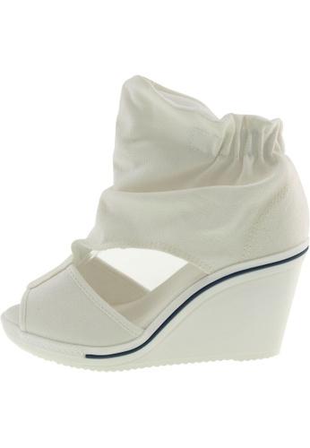 Maxstar 白色 新款韩国鞋775-Wrinkle時尚帆布布混合女白色 US Women Size MA345SH80HBRTW_1