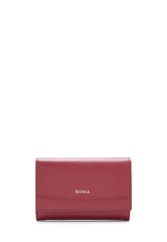 BONIA red Maroon Bianca Medium 3 Fold Wallet 4A977ACF88E446GS_1