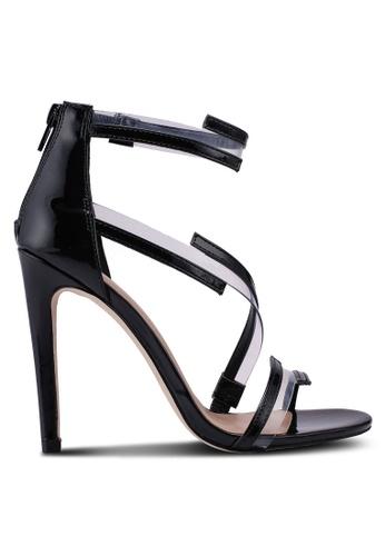 Call It Spring black Selliera Strappy Heels 53B6ESHE355AC3GS_1