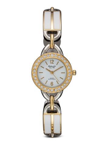 JES778SG 閃鑽圓框鍊錶, 錶類,京站 esprit 時尚型