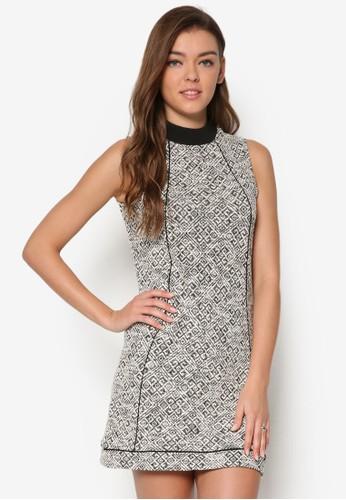 羅紋領印花洋裝, 服飾,esprit 工作 服飾