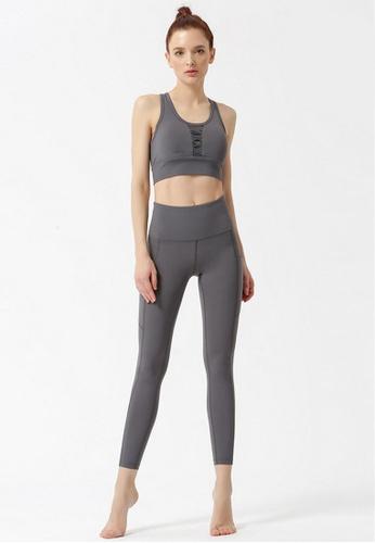 B-Code grey ZYG3060-Lady Quick Drying Running Fitness Yoga Sports Leggings -Grey ED614AA10D1646GS_1