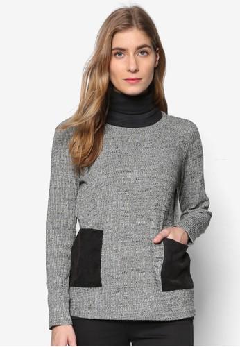 拼esprit hk分店布口袋長袖針織衫, 服飾, 外套