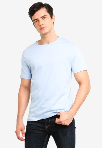 Burton Menswear London blue Light Blue Crew Neck T-Shirt DBB73AACAD3C51GS_1