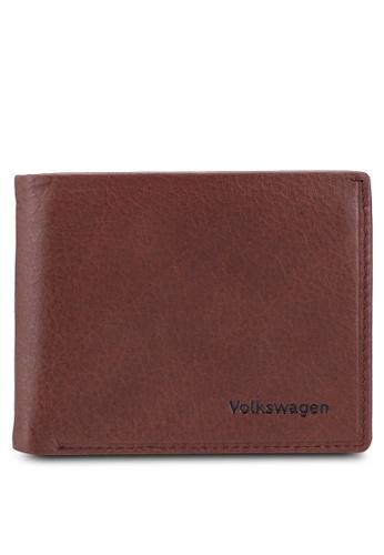 Volkswagen brown Embossed Bifold Wallet 5CFBDACE477F47GS_1
