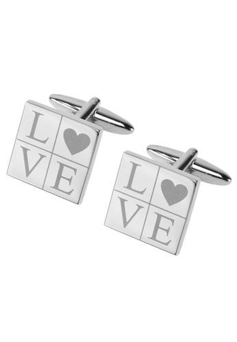 CUFF IT silver LOVE Cufflinks 1F7A2AC1F7405AGS_1